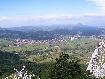 Orasul Zarnesti vazut din saua Magura