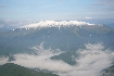 Iezer Papusa si ceata vazut din Piatra Craiului