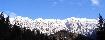 Panorama de iarna in Piatra Craiului