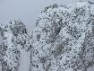Snowy clifs in Piatra Craiului