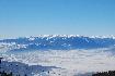 Piatra Craiului, Fagars si Iezer iarna vazuti din muntii Postavarul