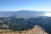 Vedere din Varful Ascutit spre muntii Bucegi
