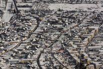 Zarnestiul vechi si cartierul Caraiman si Grui fotografie aeriana de iarna