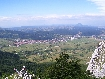Zarnesti city seen from the mountains