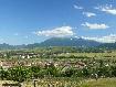 Cartierul Tohan Blocuri si muntii Bucegi vazuti de pe deal
