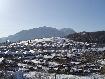 Cartierul de case de pe strada Carpati iarna