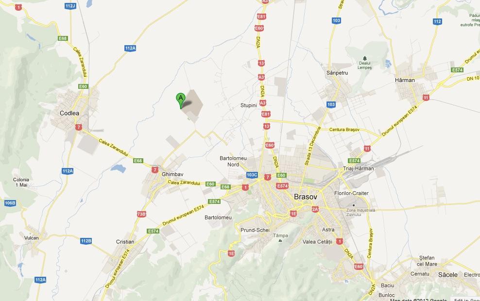 Locate Brasov Ghimbav Airport Map