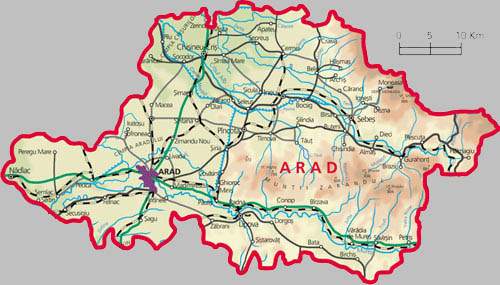 Arad County Map