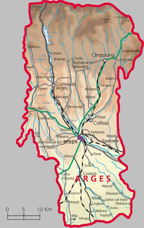 Arges County Map