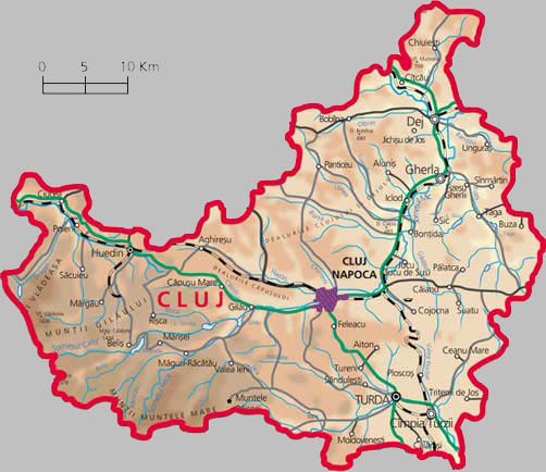Cluj Napoca County Map