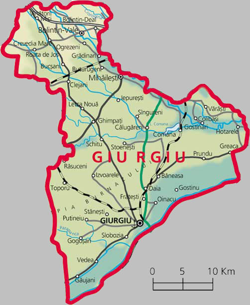 Giurgiu County Map