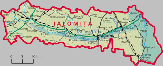 Ialomita County Map
