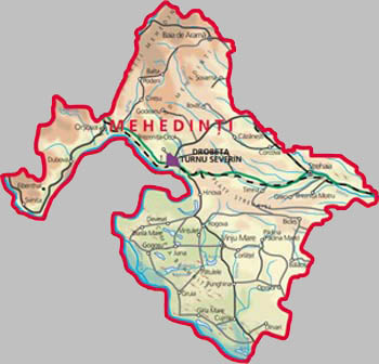 Mehedinti County Map