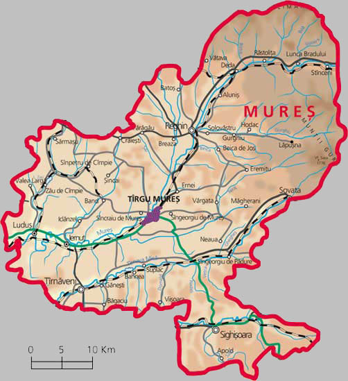 Mures County Map