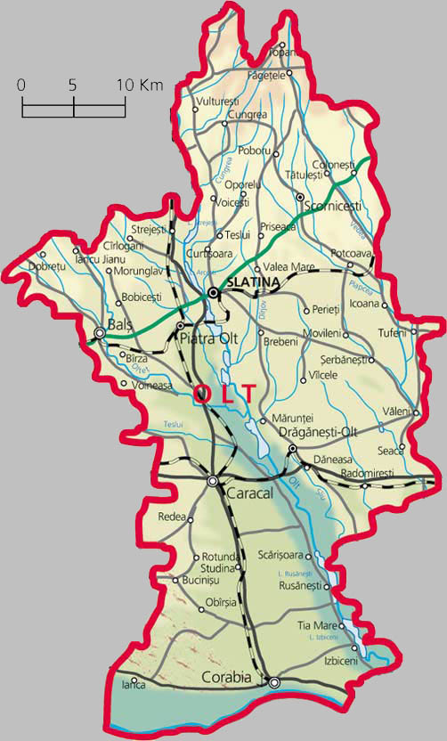 Olt County Map