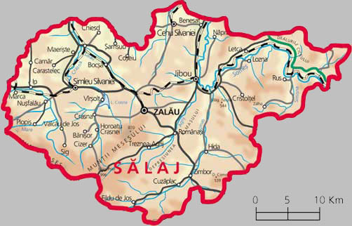 Salaj County Map