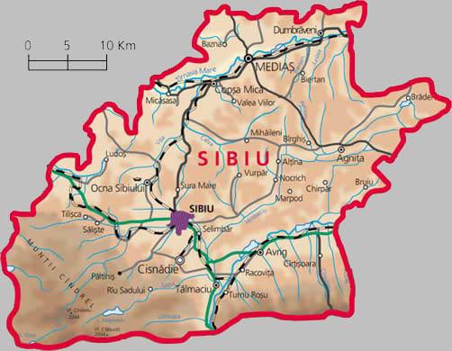 Judetul Sibiu Harta Judet Sibiu