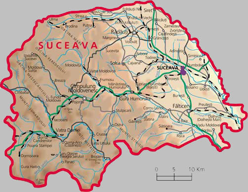 Suceava County Map