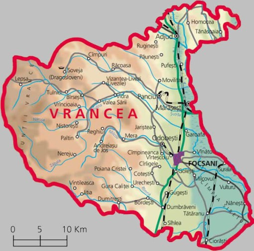 Vrancea County Map