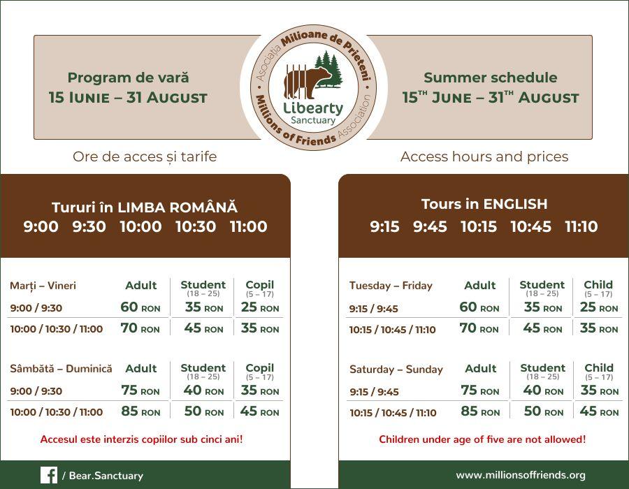 schedule-prices-bear-sanctuary-zarnesti-summer