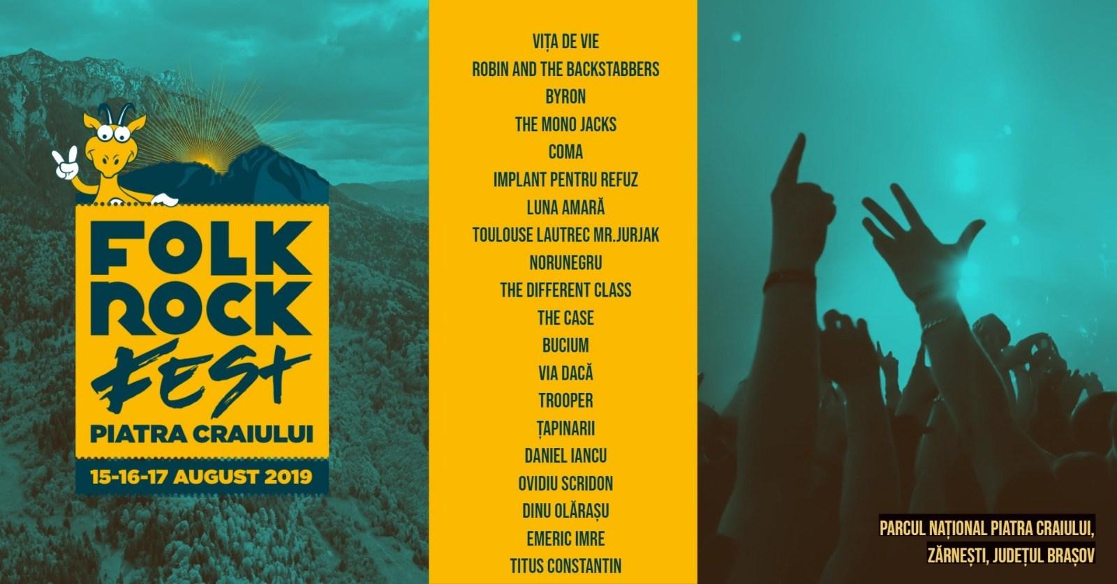 Folk Rock Fest Piatra Craiului Zarnesti 2019